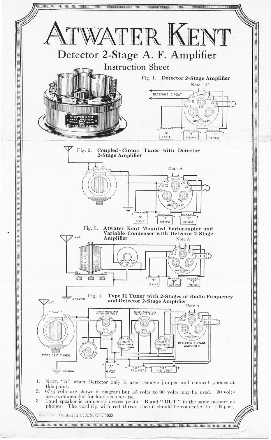 Atwater Kent Service Manual Index Box 2 Wiring Diagram For Speakers